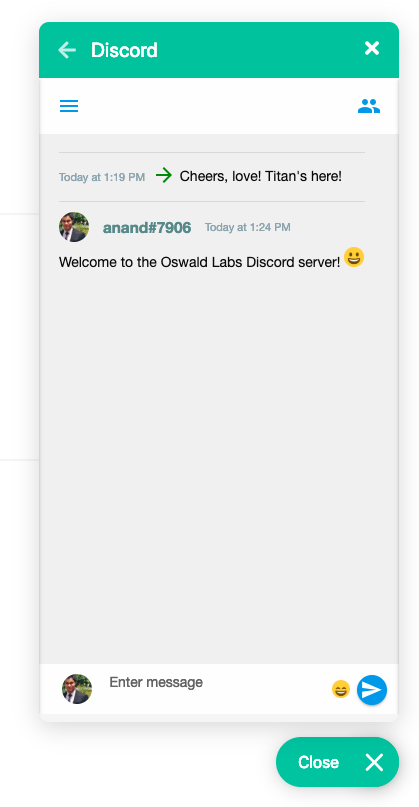 Discord chat embed